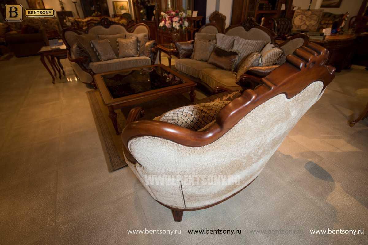 Гостиная Монтана B (Классика, Ткань, Массив дерева) каталог мебели с ценами