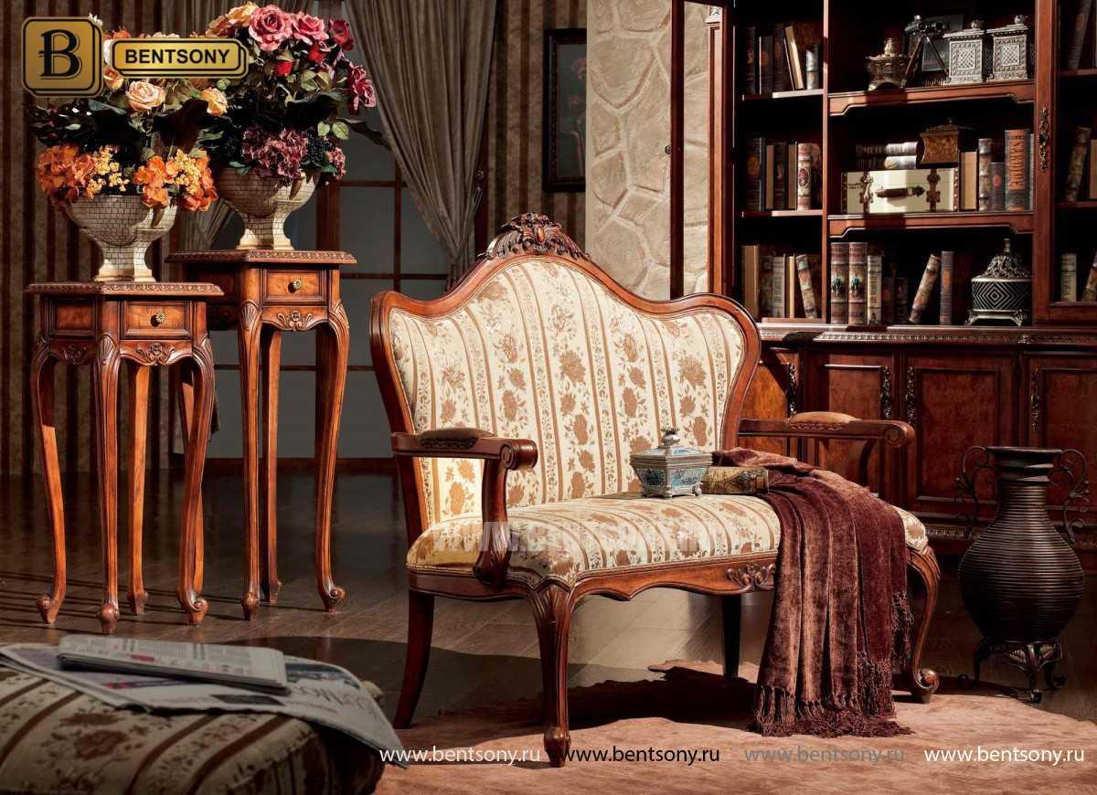Гостиная Монтана B (Классика, Ткань, Массив дерева) для квартиры