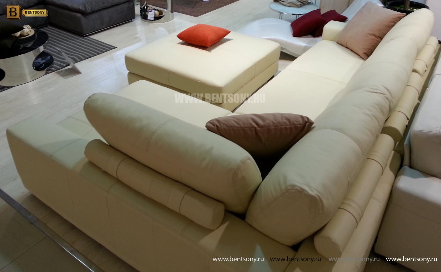 угловой диван Луиджи с пуфом