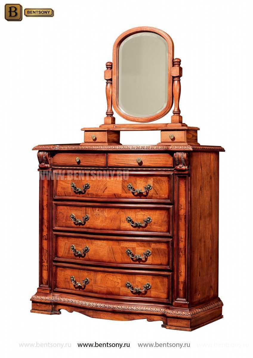 Комод Монтана (Классика, массив дерева, резьба) каталог мебели с ценами