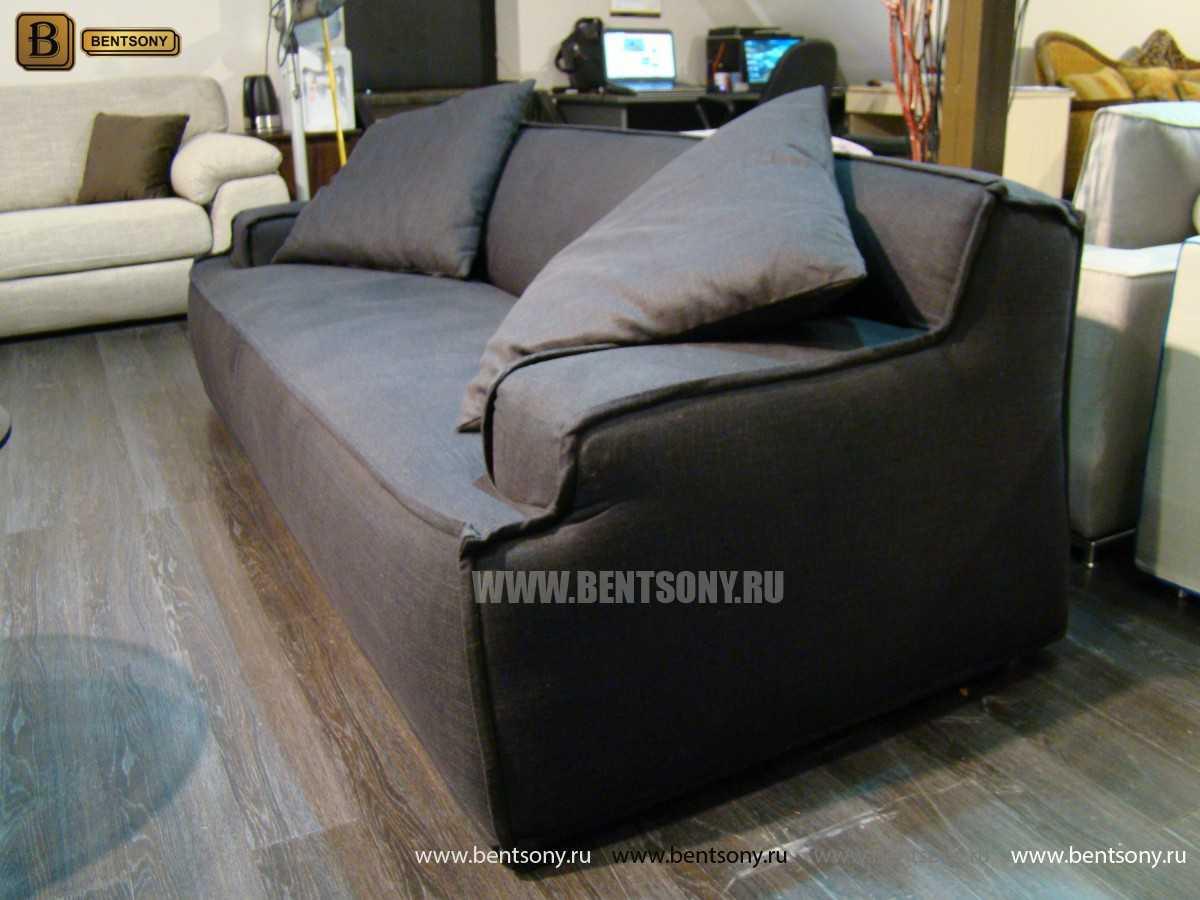 черный прямой тканевый диван купть