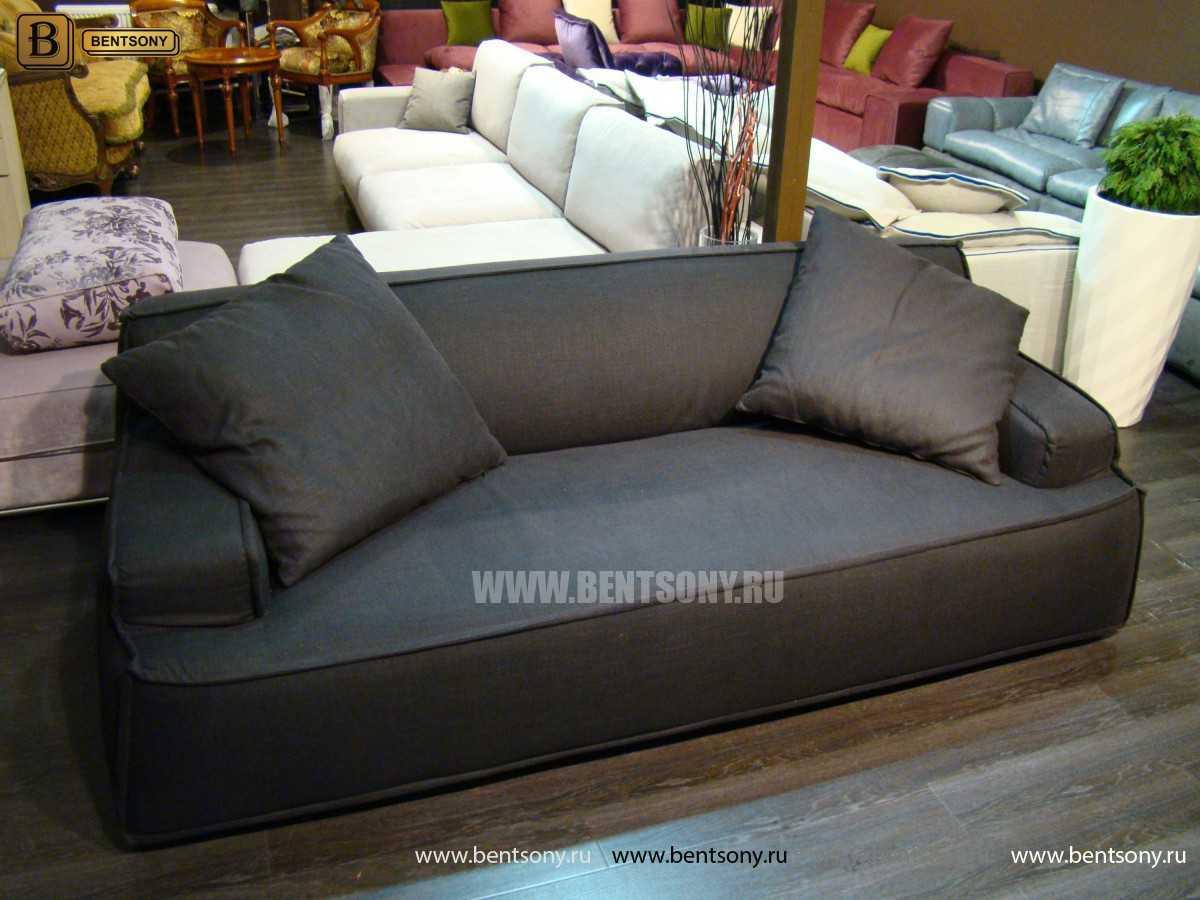 мягкий черный диван