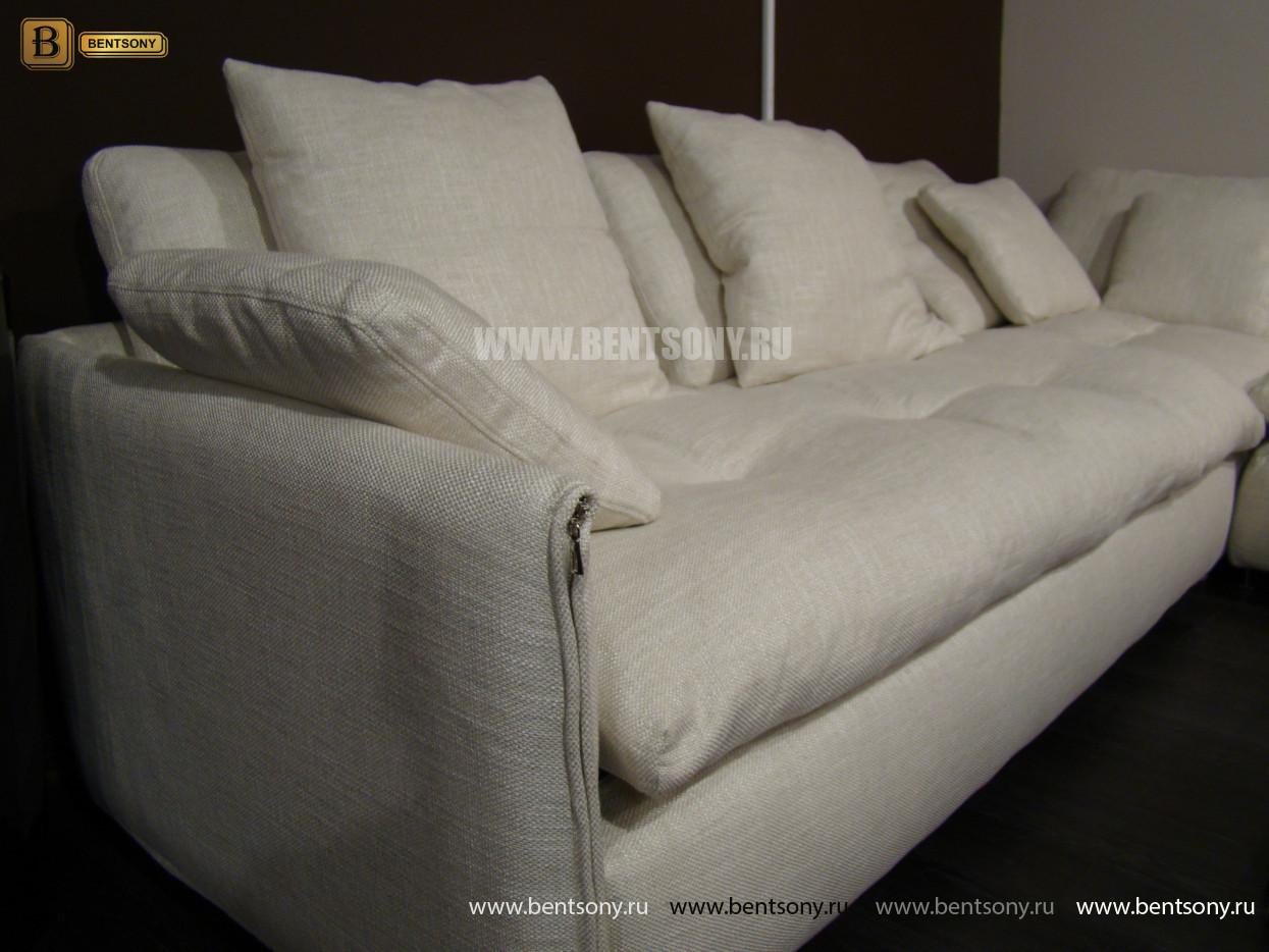 стильный белый диван Арлетто