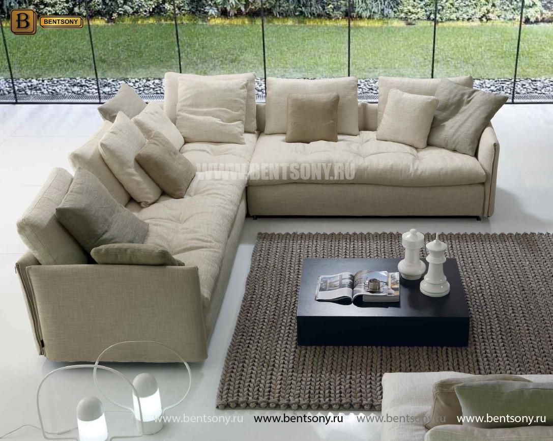Элитный диван Арлетто в рогожке для гостиной