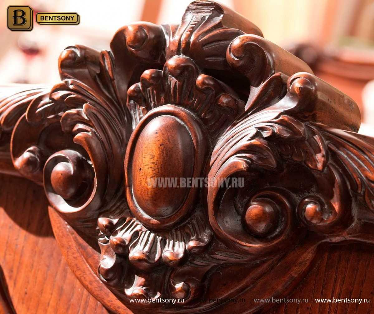 Кровать Монтана B (Классика, массив дерева, кожа) сайт цены