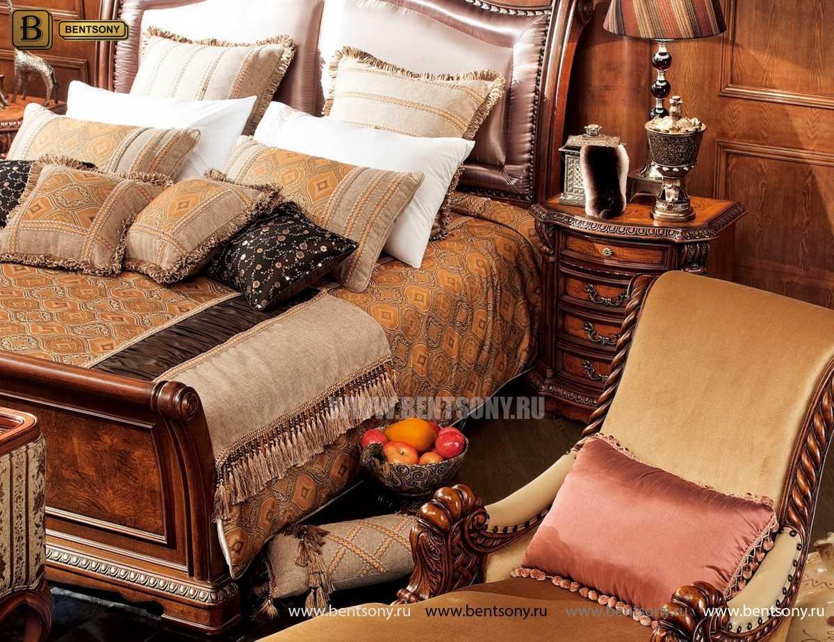 Кровать Монтана C (Классика, массив дерева, ткань) купить в Москве