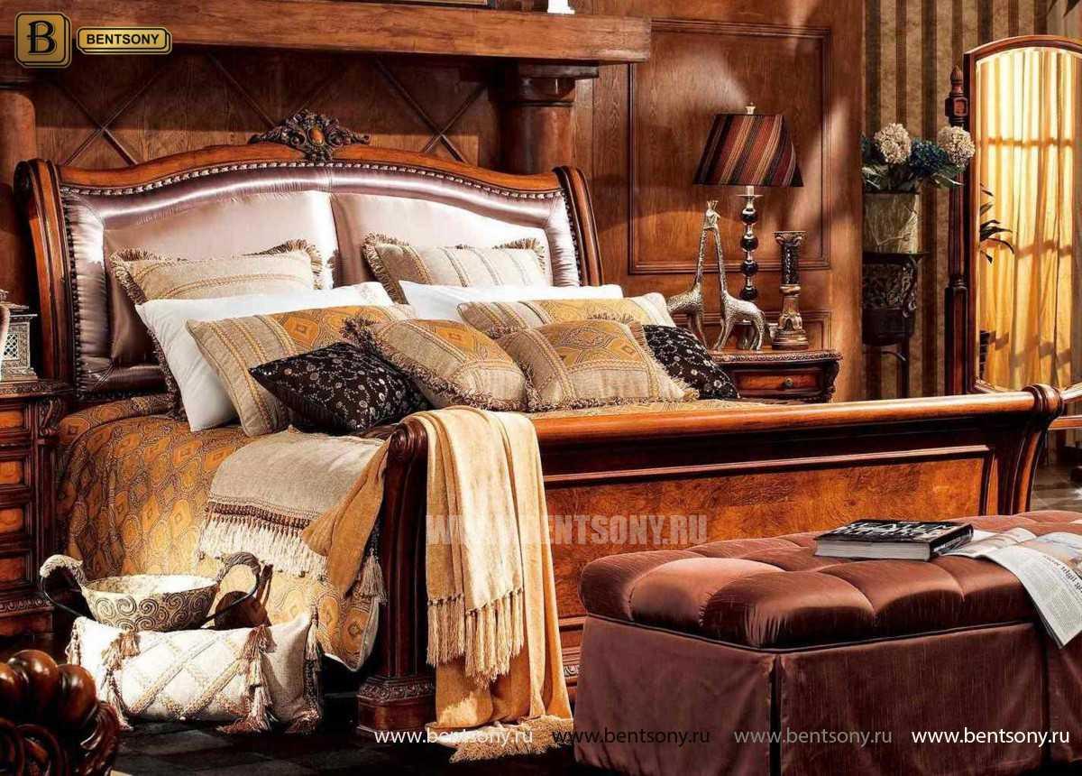 Кровать Монтана C (Классика, массив дерева, ткань)