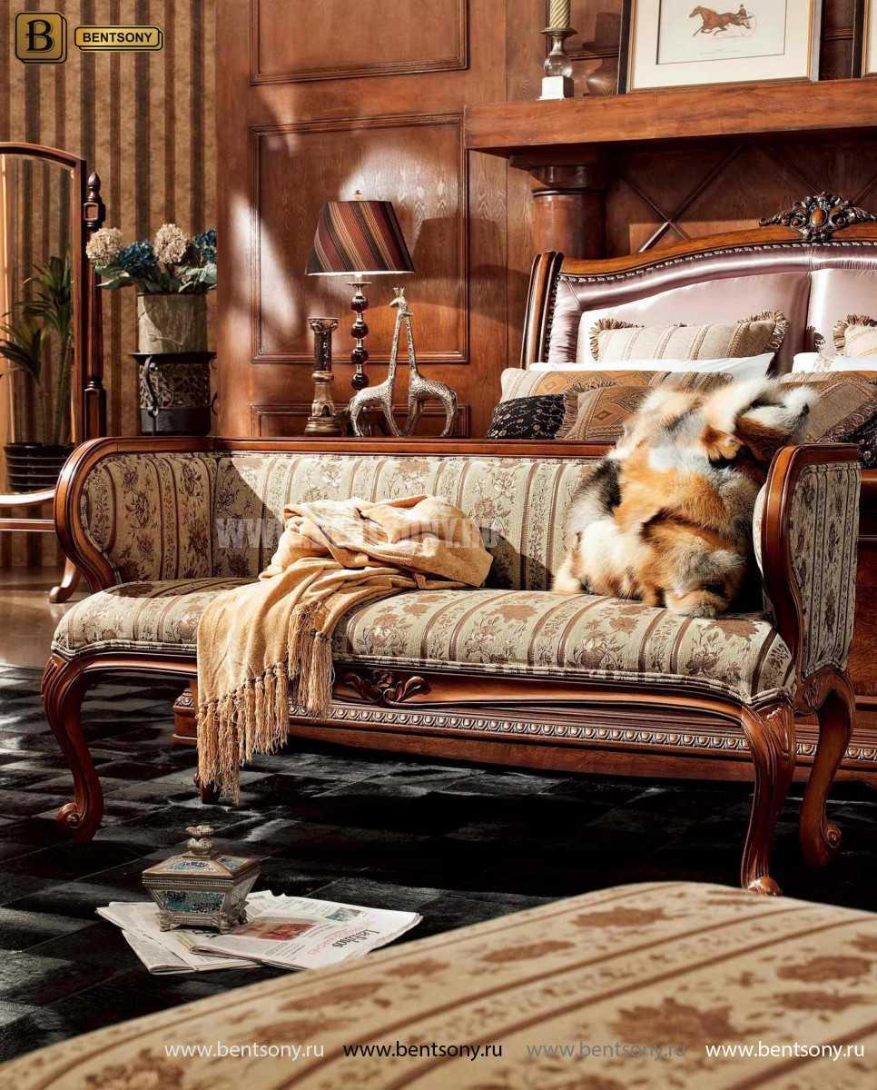 Кровать Монтана C (Классика, массив дерева, ткань) каталог мебели с ценами