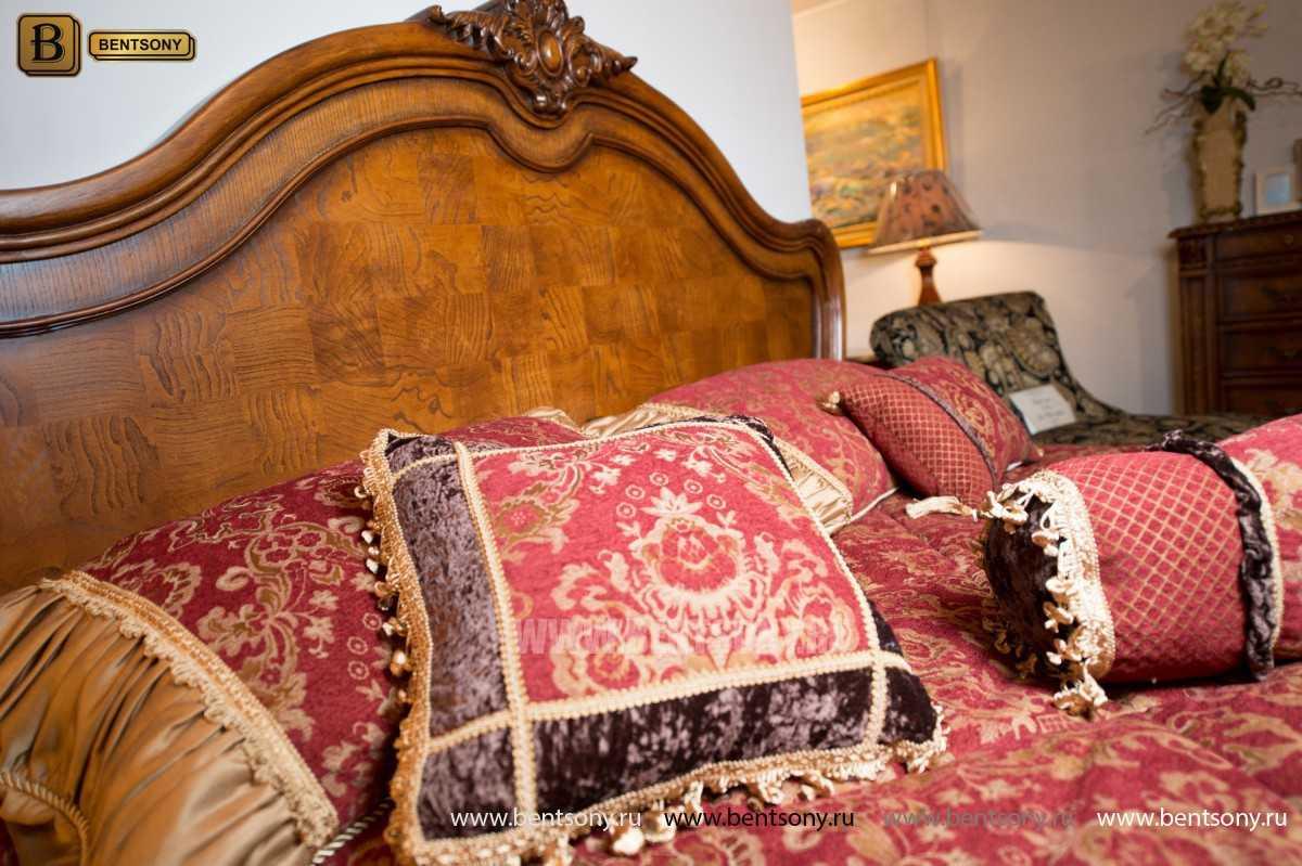 Кровать Монтана D для спальни (Классика, массив дерева) для дома