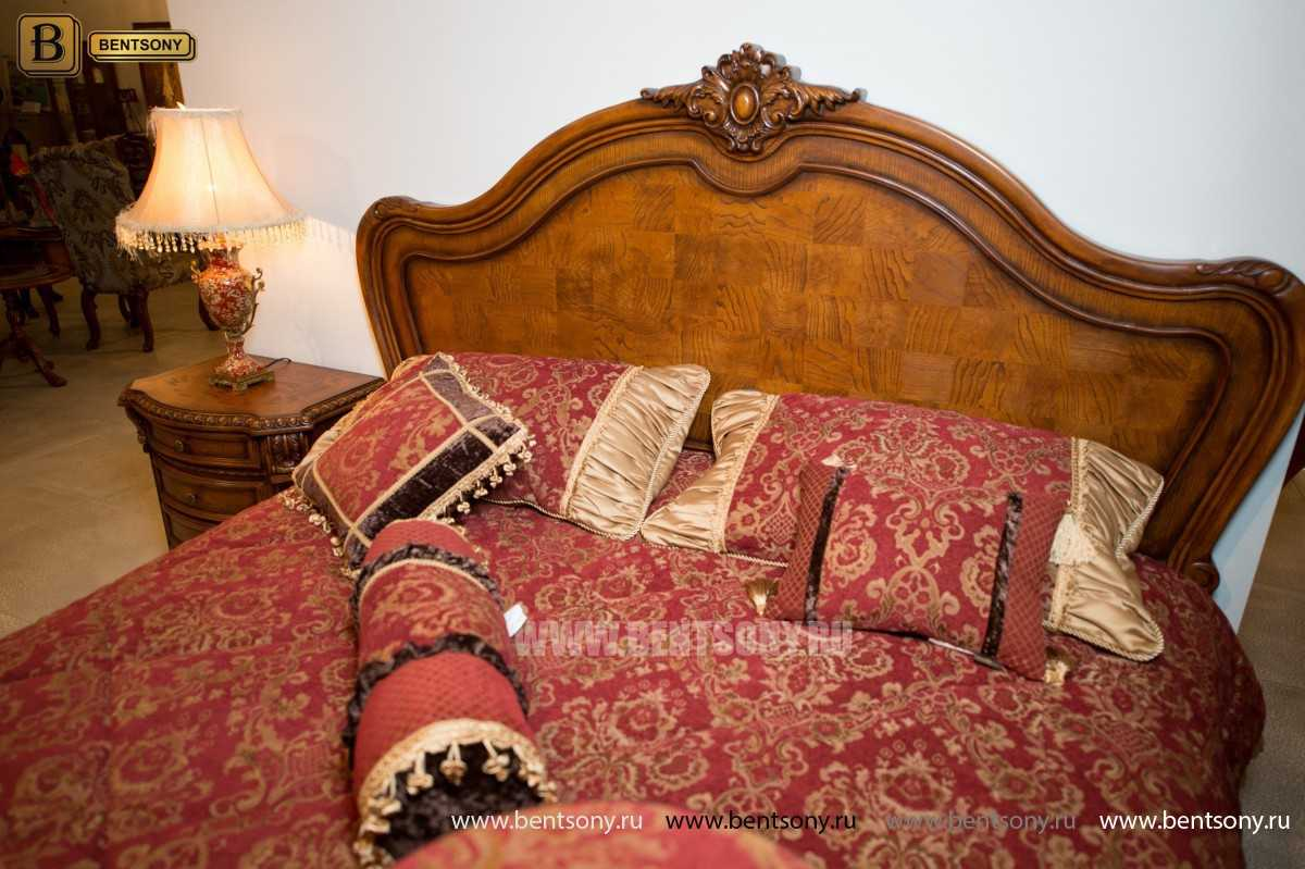 Кровать Монтана D для спальни (Классика, массив дерева) каталог с ценами
