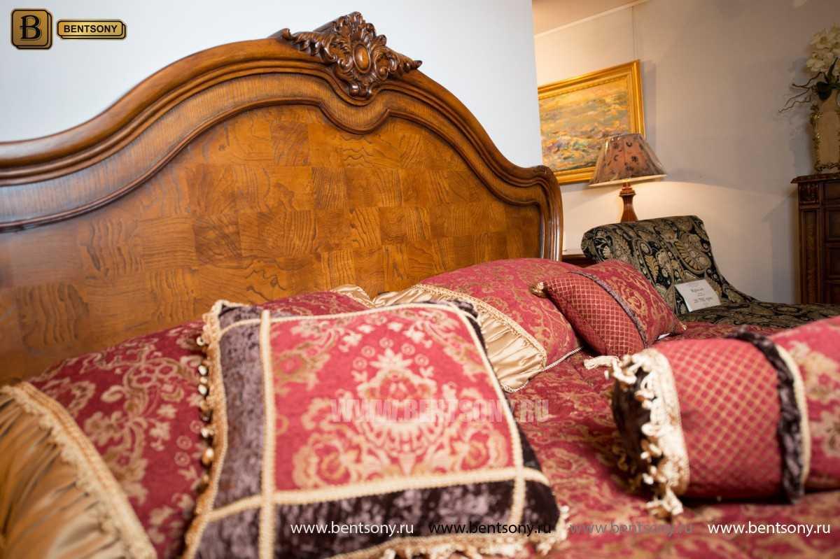 Кровать Монтана D для спальни (Классика, массив дерева) в интерьере