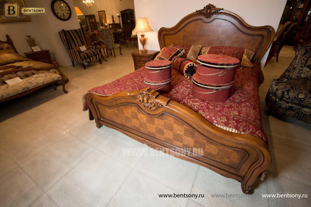 Кровать Монтана D для спальни (Классика, массив дерева) каталог мебели