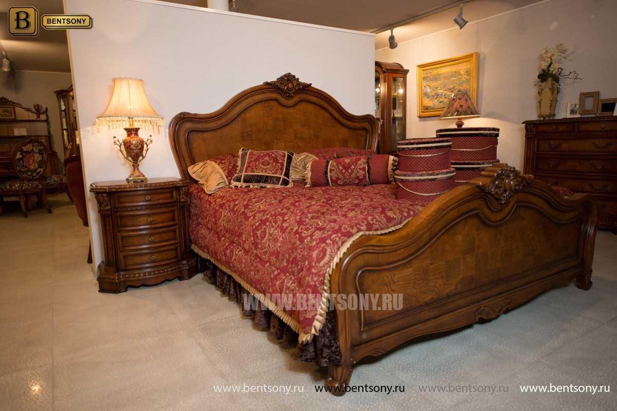 Кровать Монтана D для спальни (Классика, массив дерева) фото