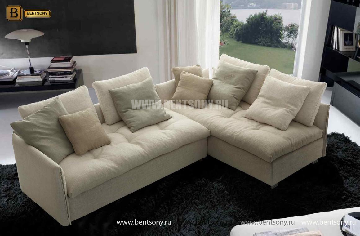 тканевый модульный диван Арлетто подушки