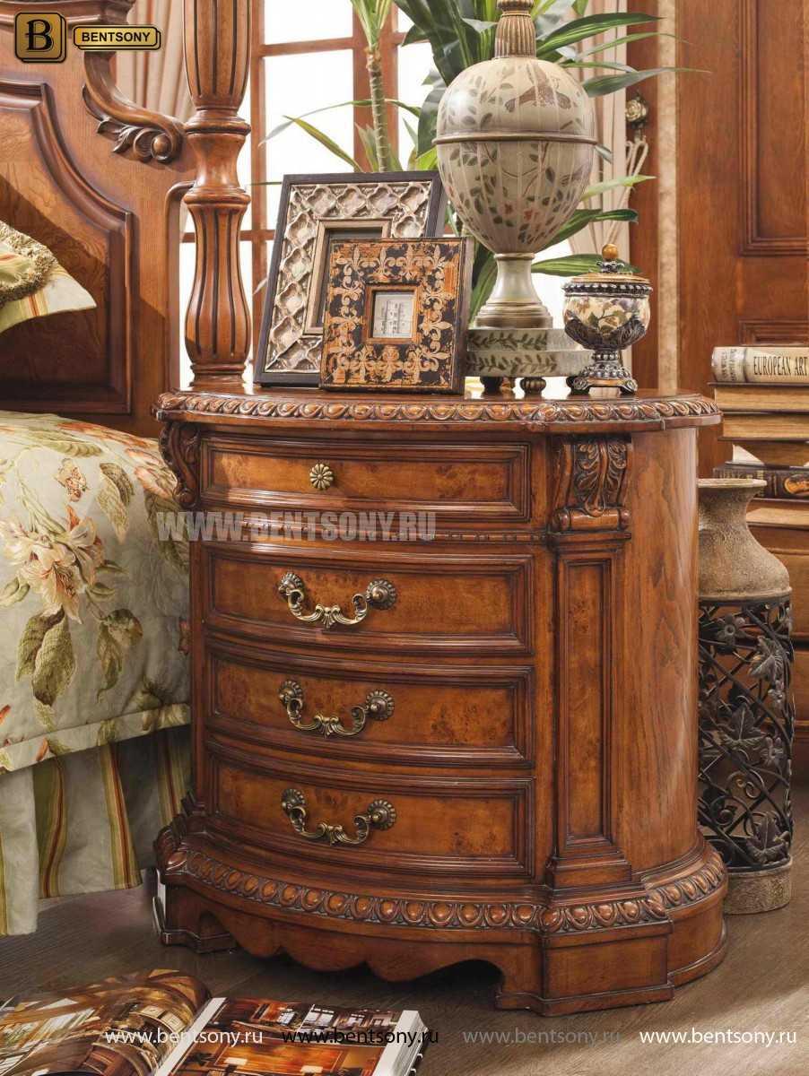 Тумба Прикроватная Монтана А (Полукруглая, массив дерева) каталог мебели