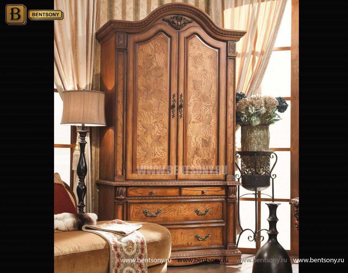 Шкаф 2-х дверный Монтана (Классика, массив дерева) официальный сайт цены