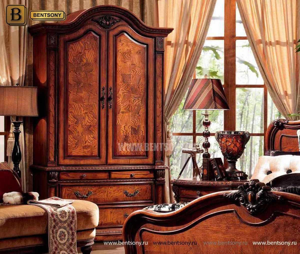 Шкаф 2-х дверный Монтана (Классика, массив дерева) в Москве