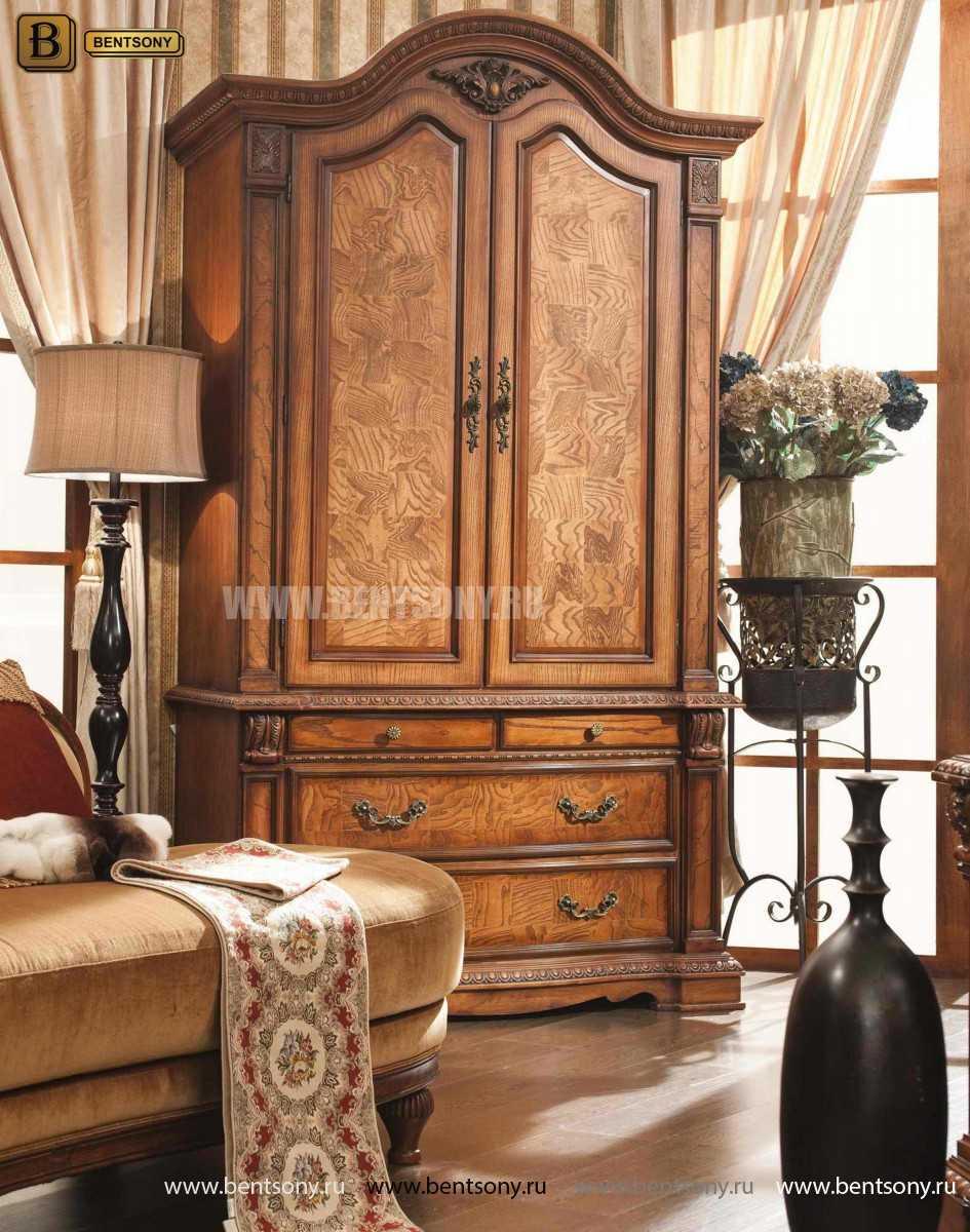 Шкаф 2-х дверный Монтана (Классика, массив дерева) каталог с ценами