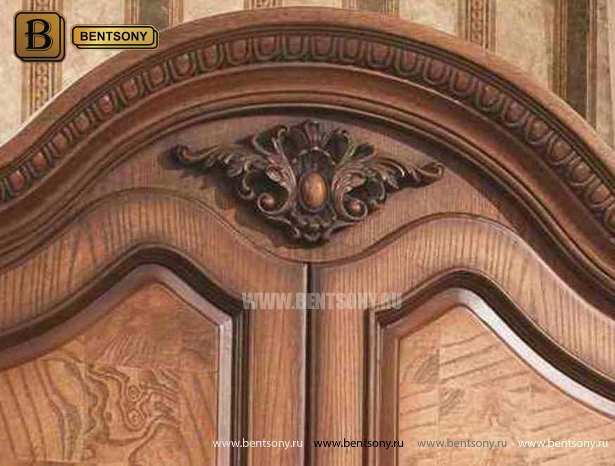 Шкаф 4-х дверный Монтана (Классика, массив дерева) в интерьере