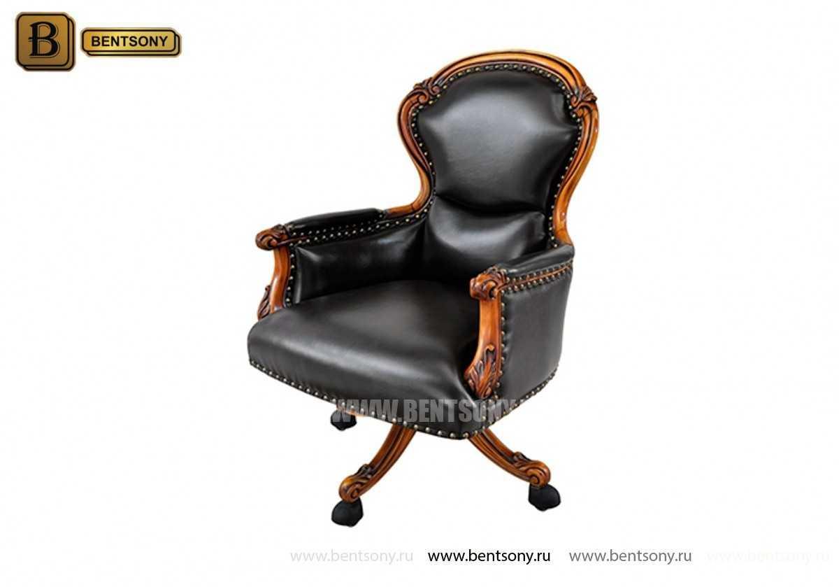 Кресло Кабинетное Дакота В (Натуральная кожа, колесики)
