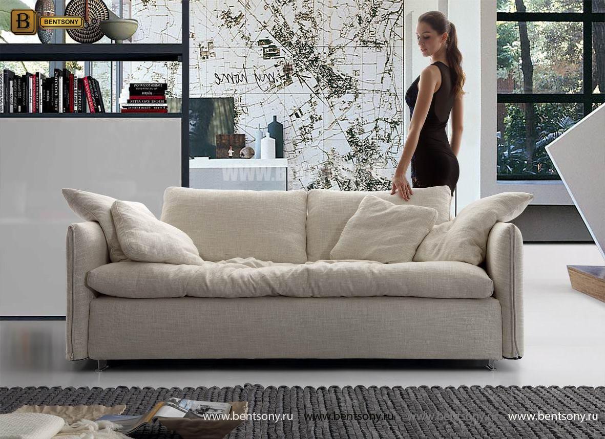 Мягкий прямой диван Арлетто в интерьере