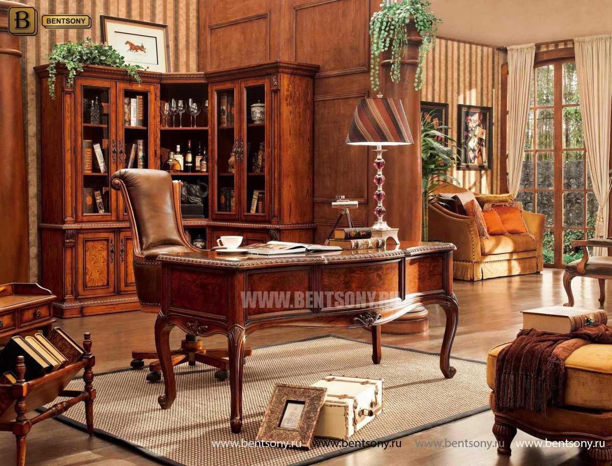 Шкаф Книжный Монтана (Угловой, массив дерева) купить в СПб