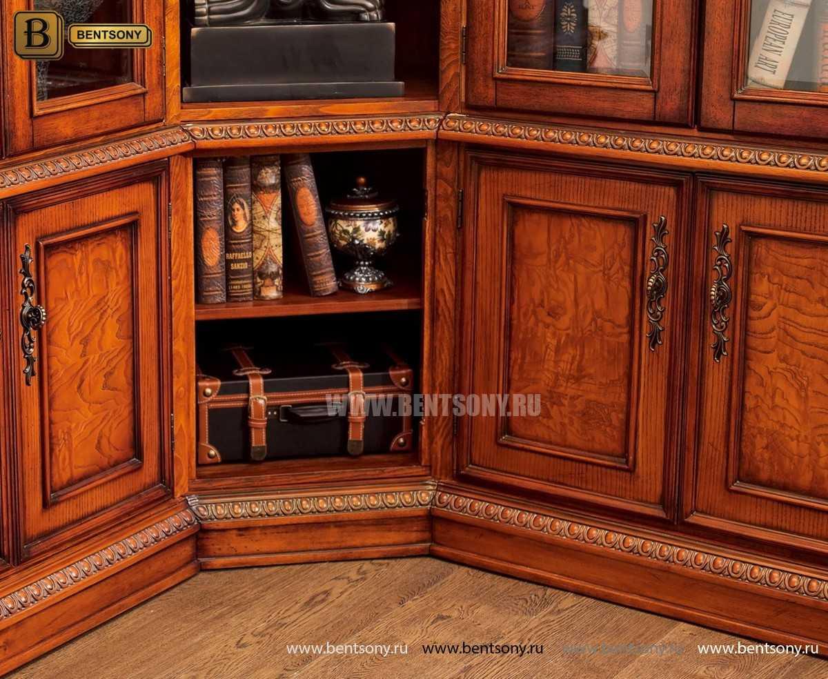 Шкаф Книжный Монтана (Угловой, массив дерева) каталог