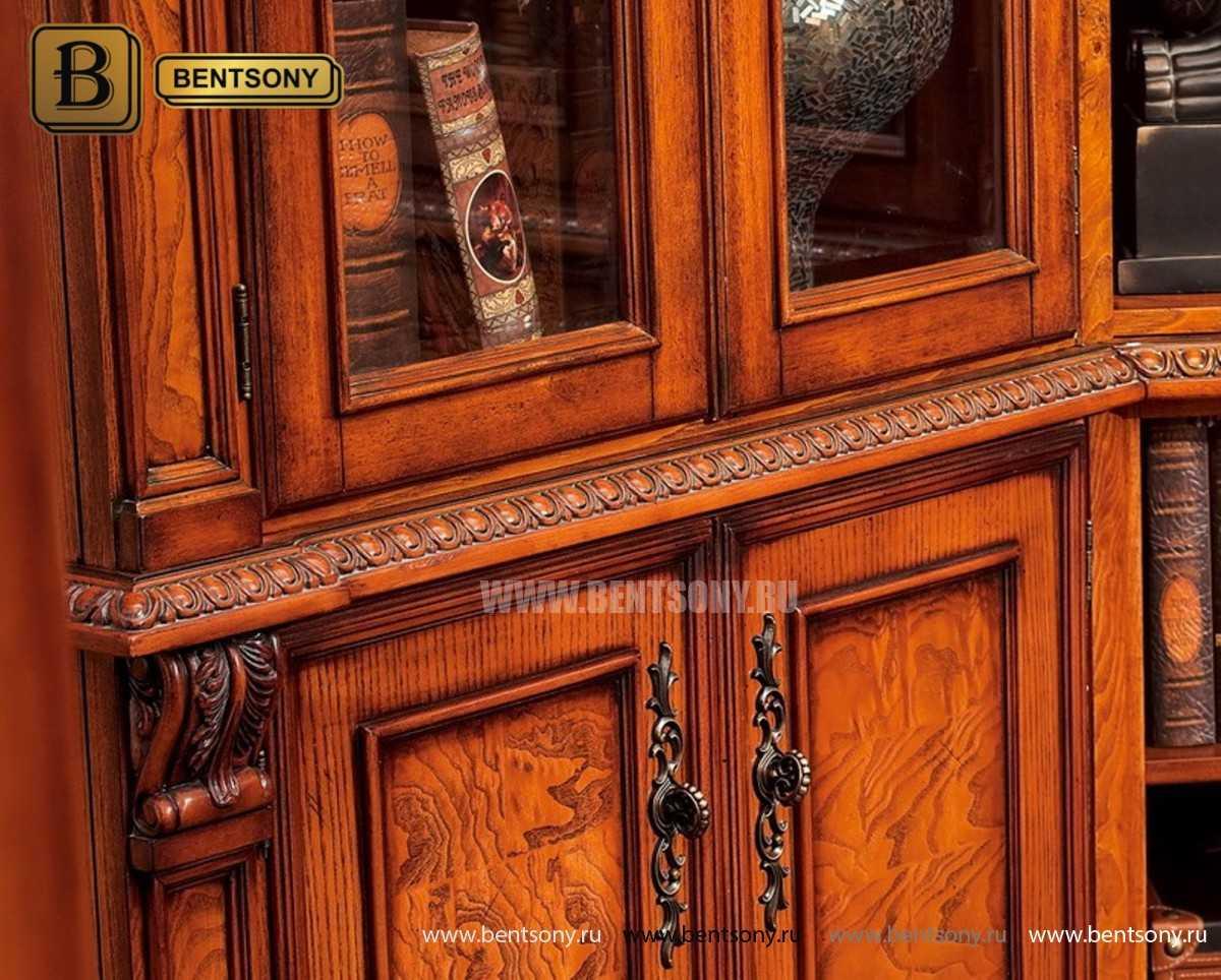 Шкаф Книжный Монтана (Угловой, массив дерева) сайт цены