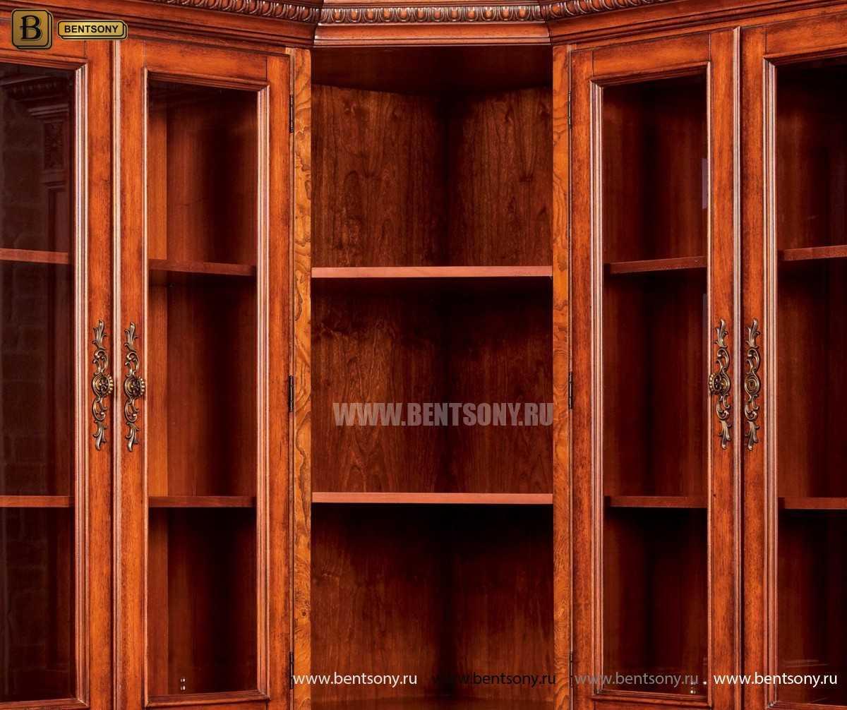 Шкаф Книжный Монтана (Угловой, массив дерева) в интерьере
