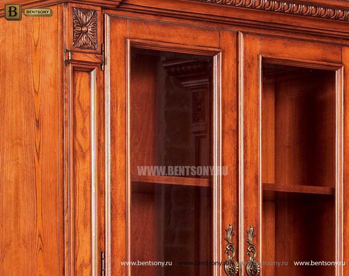 Шкаф Книжный Монтана (Угловой, массив дерева) купить в Москве