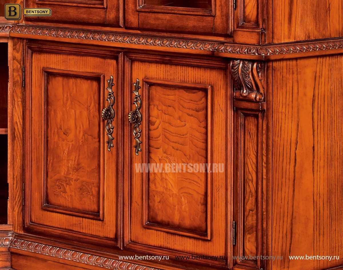 Шкаф Книжный Монтана (Угловой, массив дерева) каталог мебели с ценами