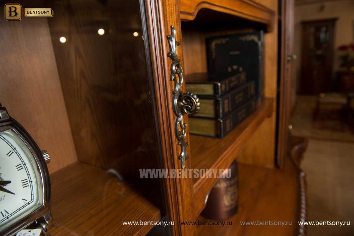 Шкаф Книжный Монтана (Прямой, массив дерева)