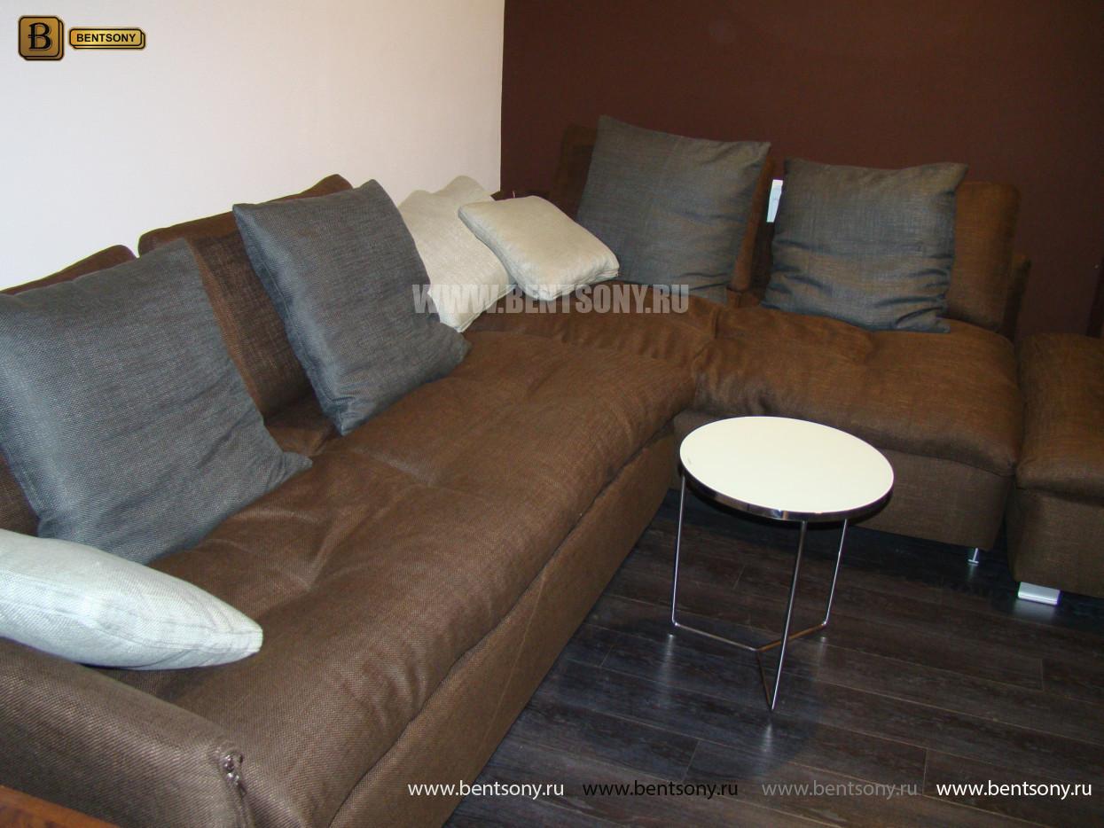 Угловой диван коричневый Арлетто