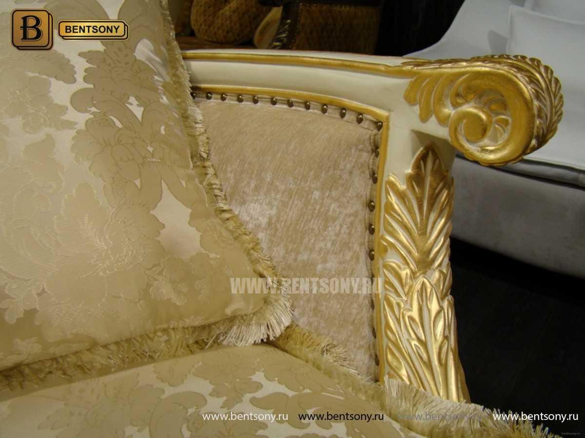 Кресло Амадео (Классика, массив дуба, патина) фото