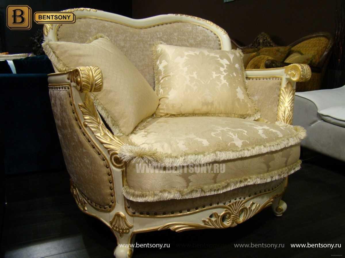 Кресло Амадео (Классика, массив дуба, патина) в Москве