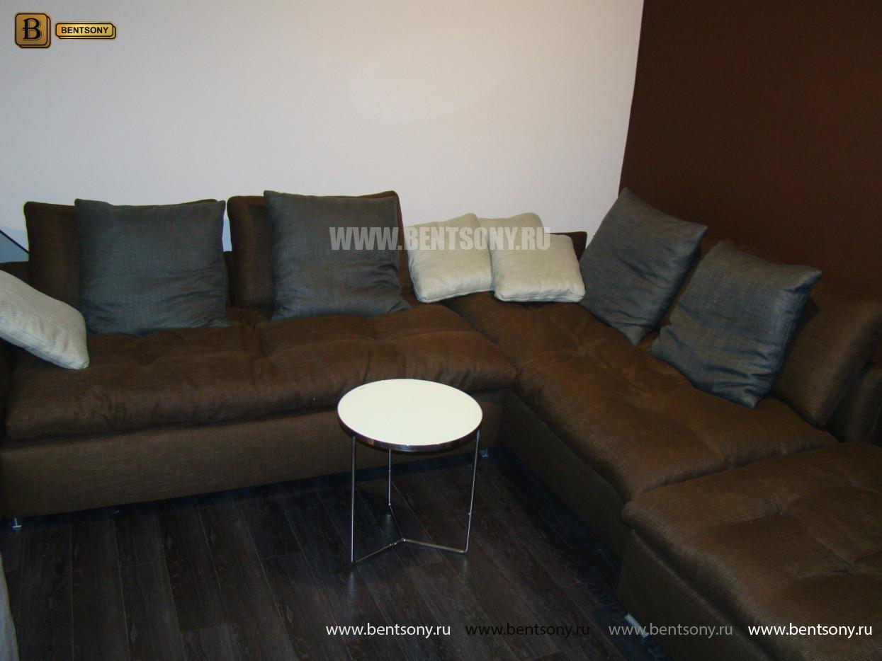 купить диван Арлетто коричневый ткань