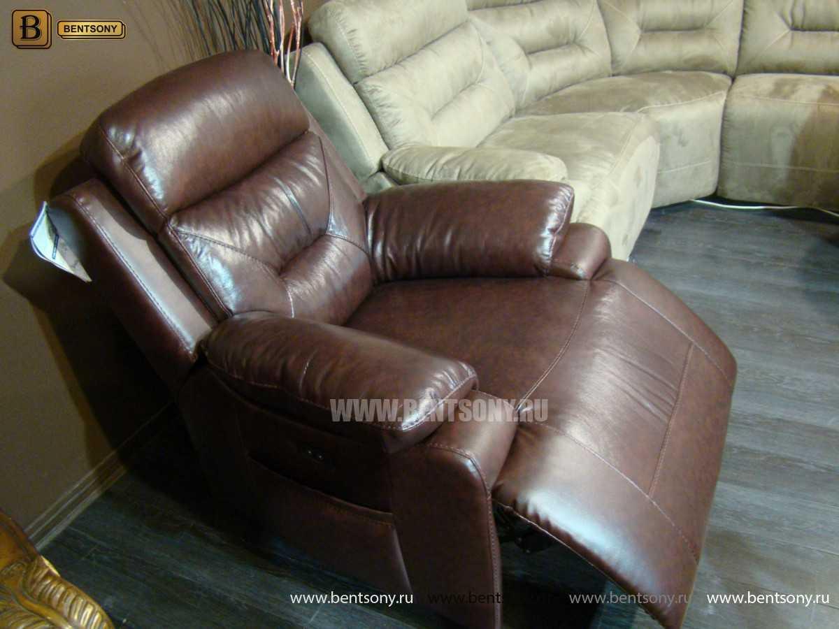 кожаные кресла реклайнеры Бенцони