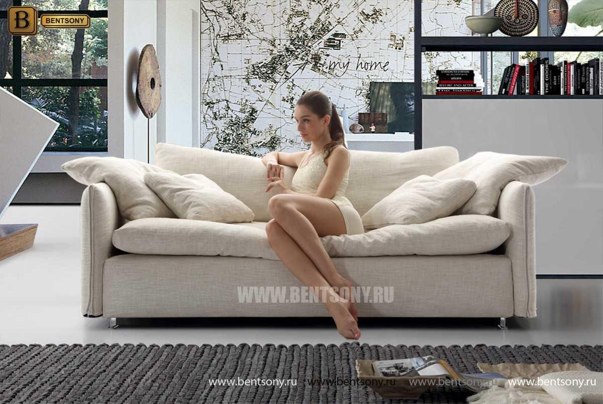 стильный прямой диван Арлетто