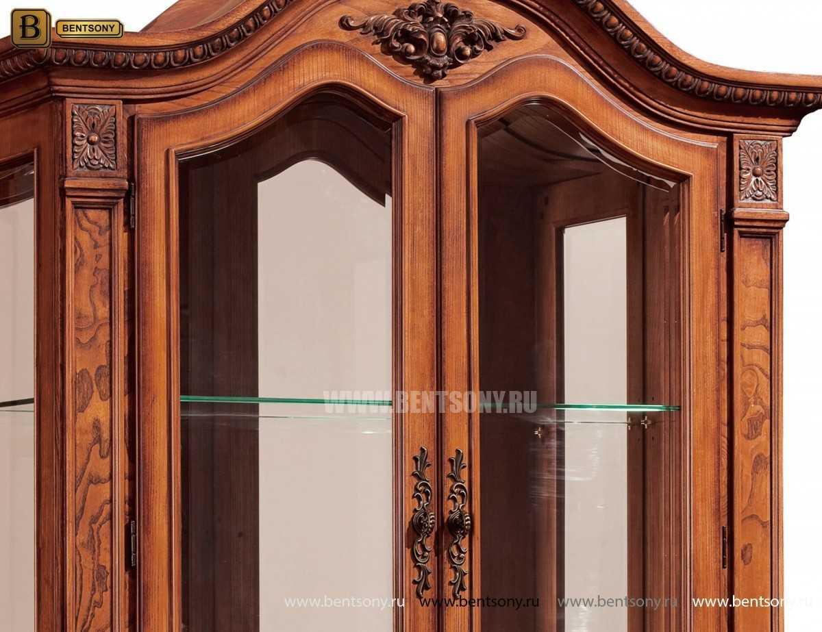 Витрина 2-х дверная Монтана (Классика, массив дерева) каталог мебели с ценами