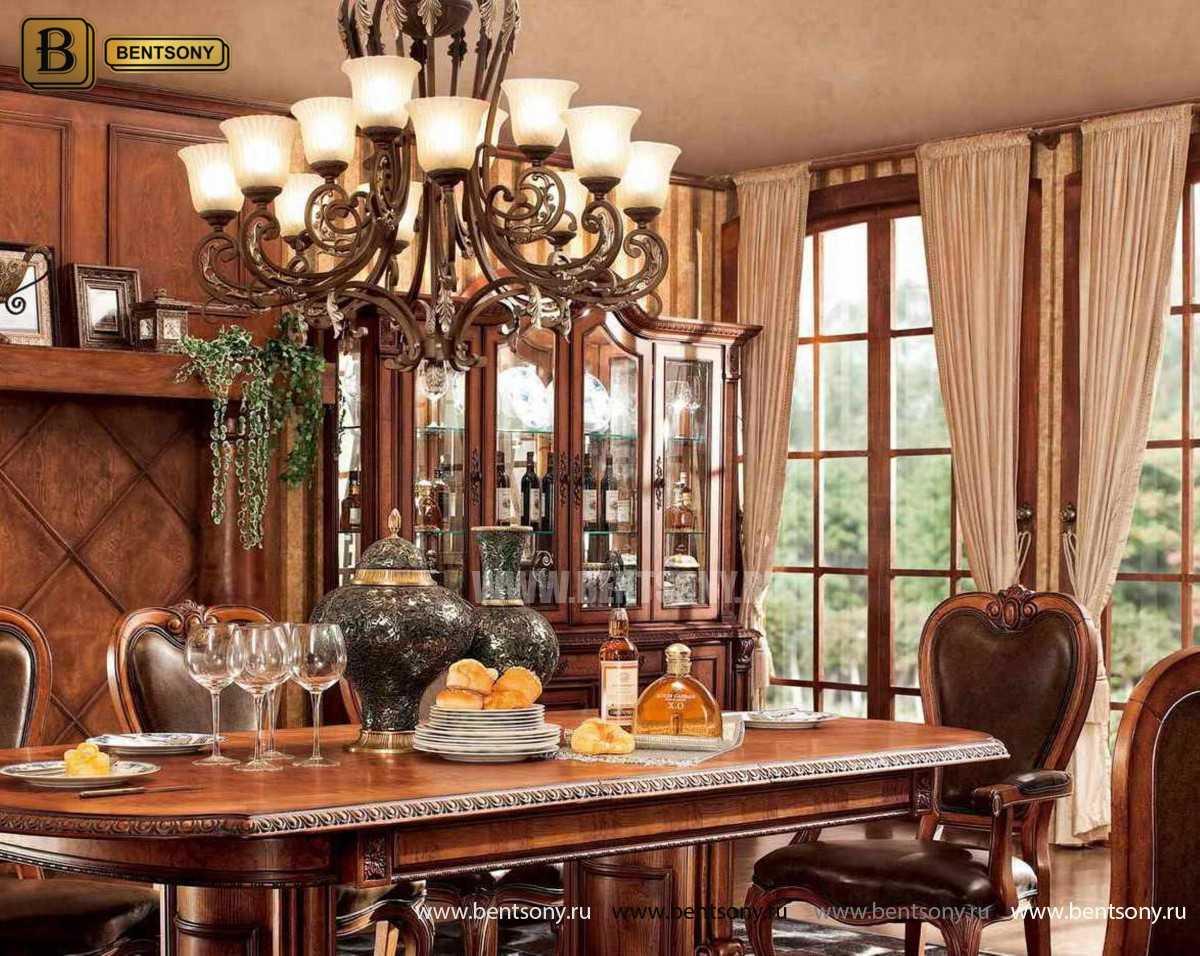 Витрина 4-х дверная Монтана (Массив дерева, классика) сайт цены