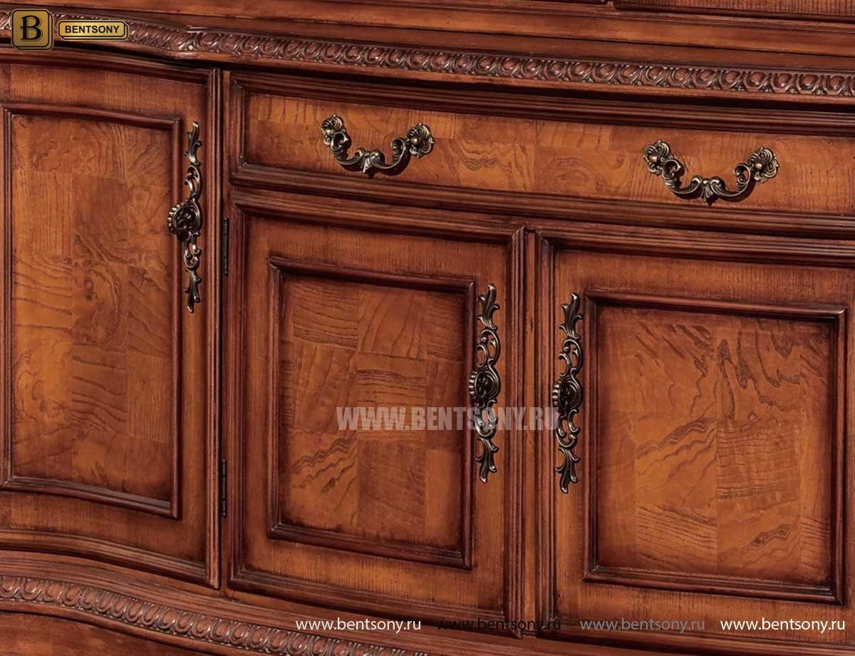 Витрина 4-х дверная Монтана (Массив дерева, классика) каталог мебели