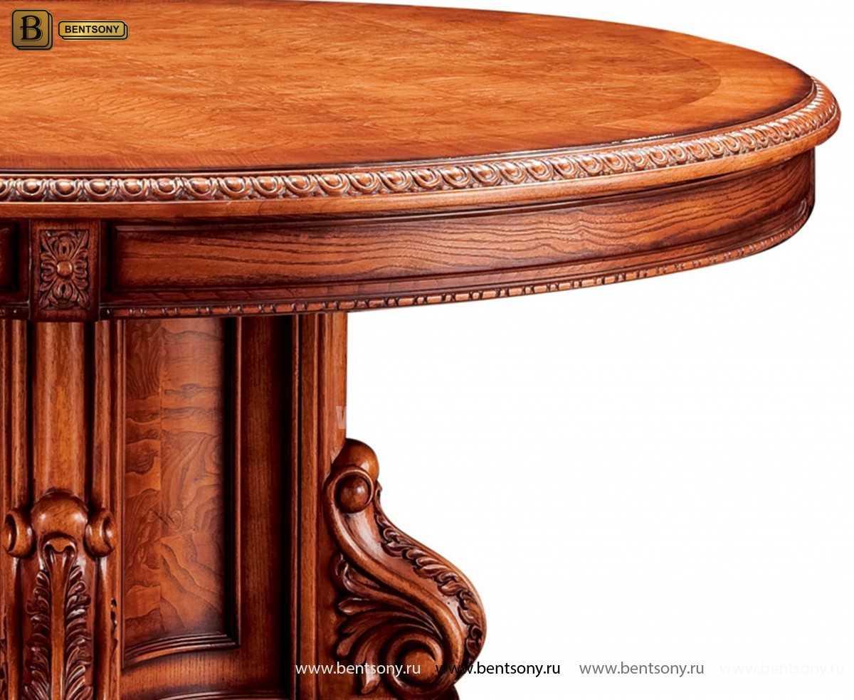 Обеденный стол Монтана (Круглый, массив дерева) каталог мебели с ценами