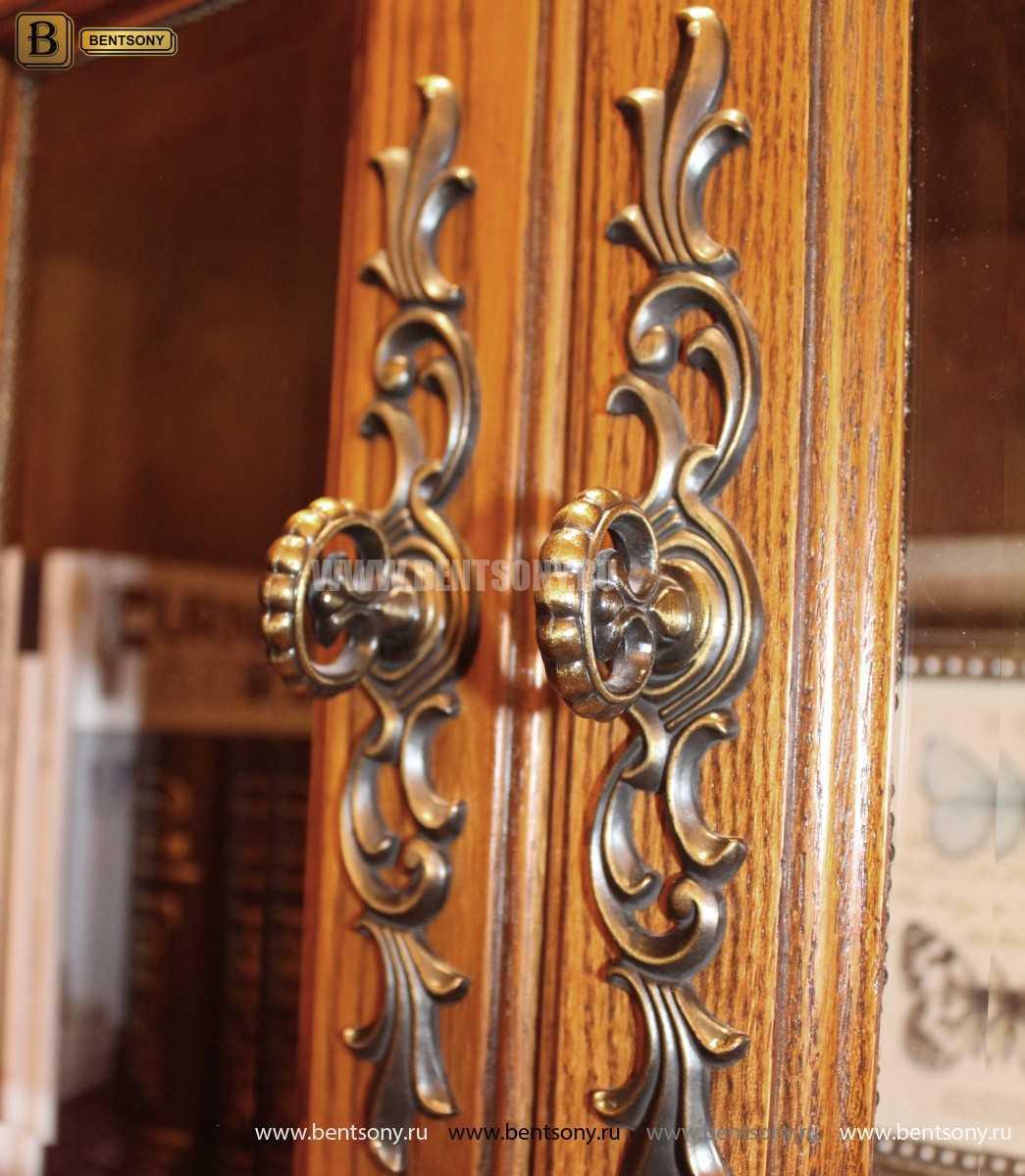 Витрина 4-х дверная Монтана (Массив дерева, классика) для загородного дома