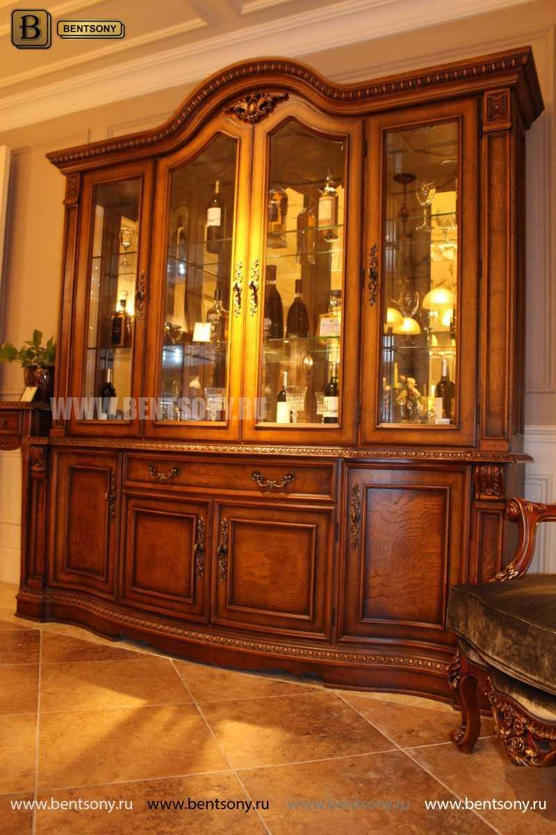 Витрина 4-х дверная Монтана (Массив дерева, классика) в Москве