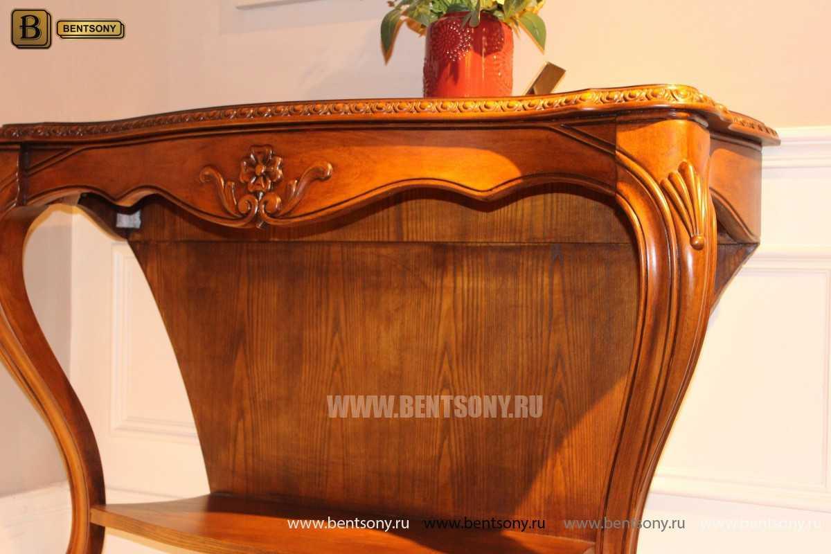 Консоль Монтана (деревянная столешница, классика) для дома