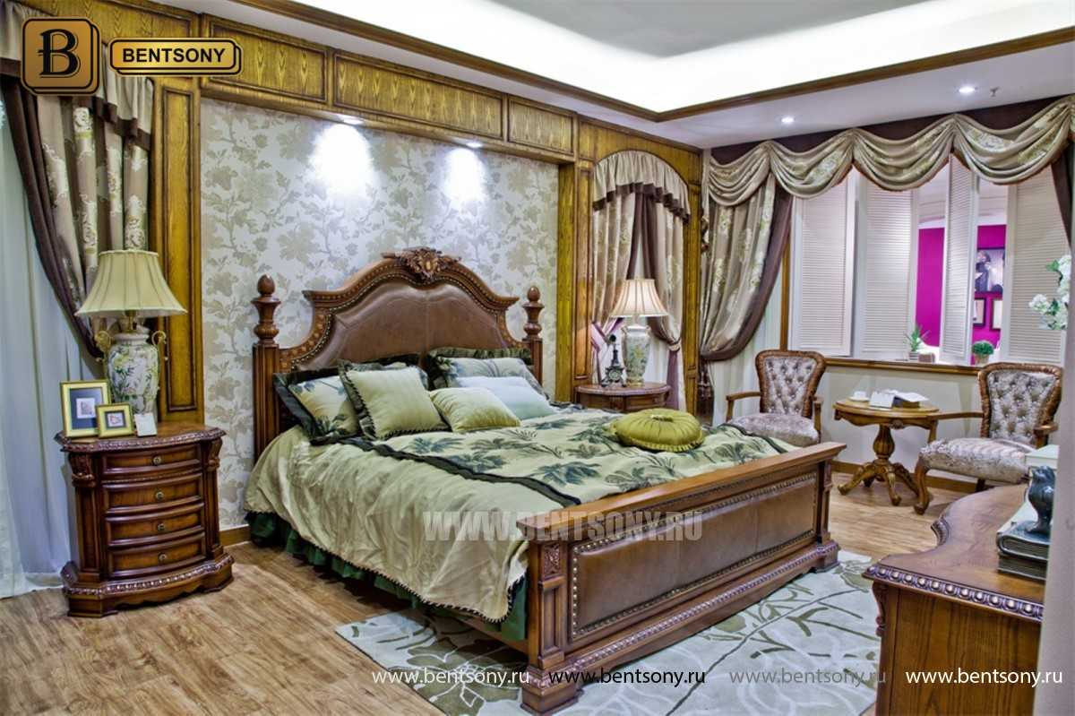 Кровать Монтана B (Классика, массив дерева, кожа) интернет магазин