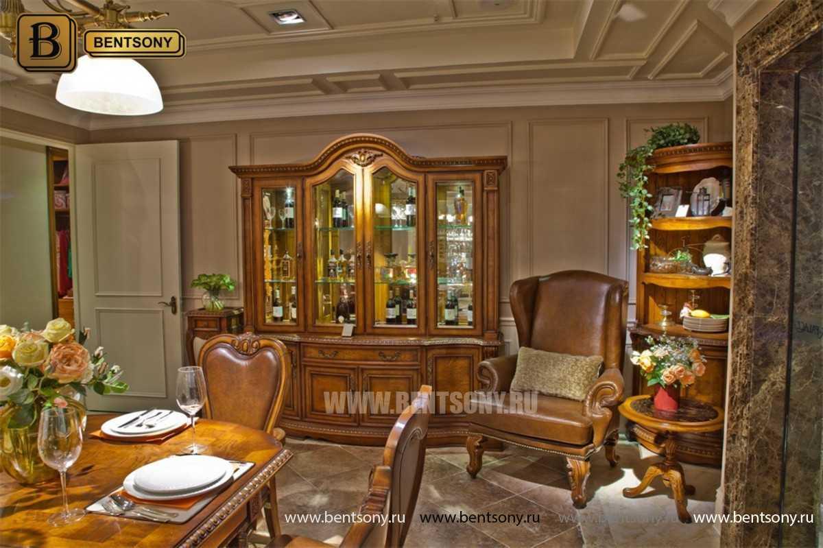 Витрина 4-х дверная Монтана (Массив дерева, классика) официальный сайт цены