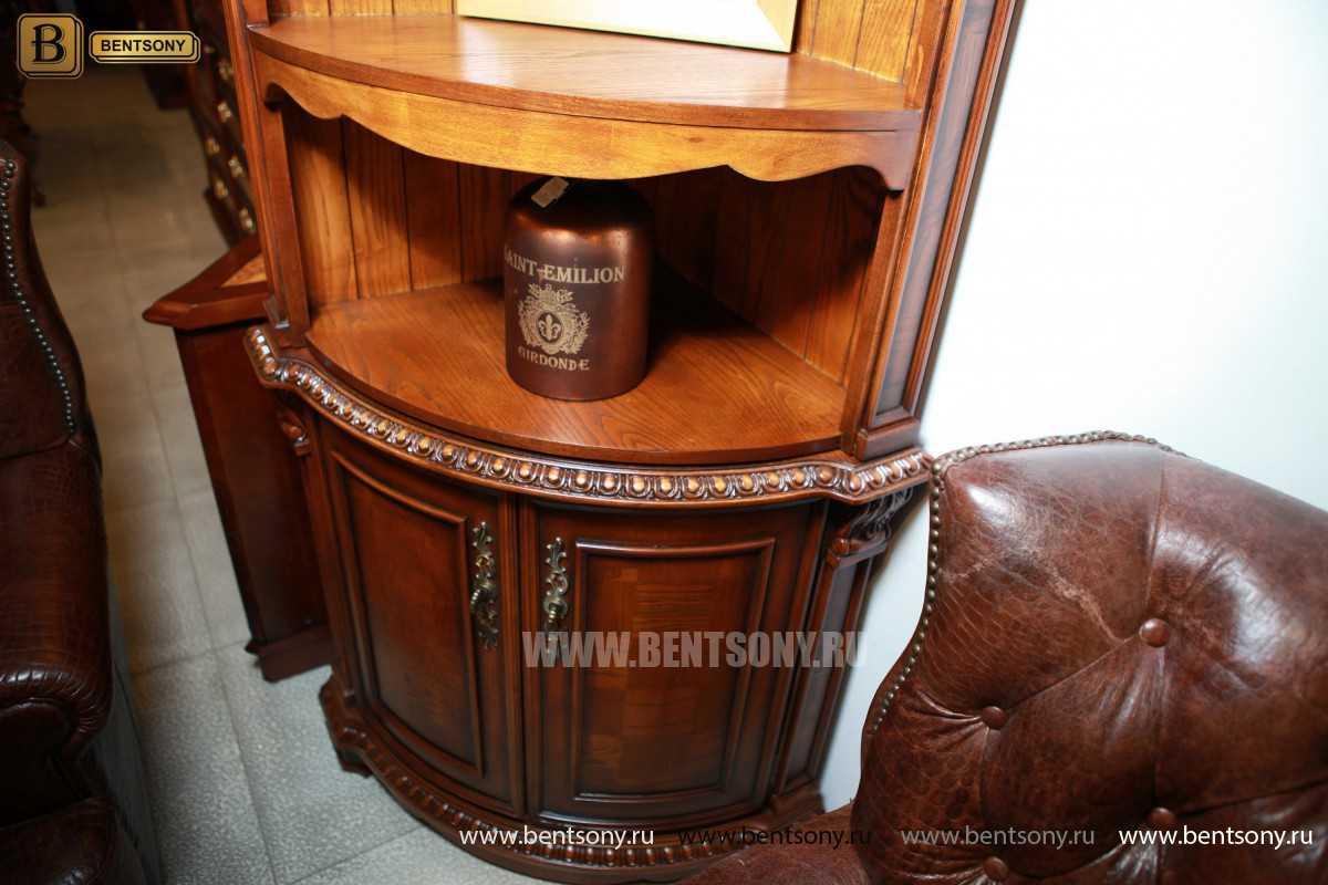 Витрина угловая Монтана (Классика, массив дерева) каталог мебели
