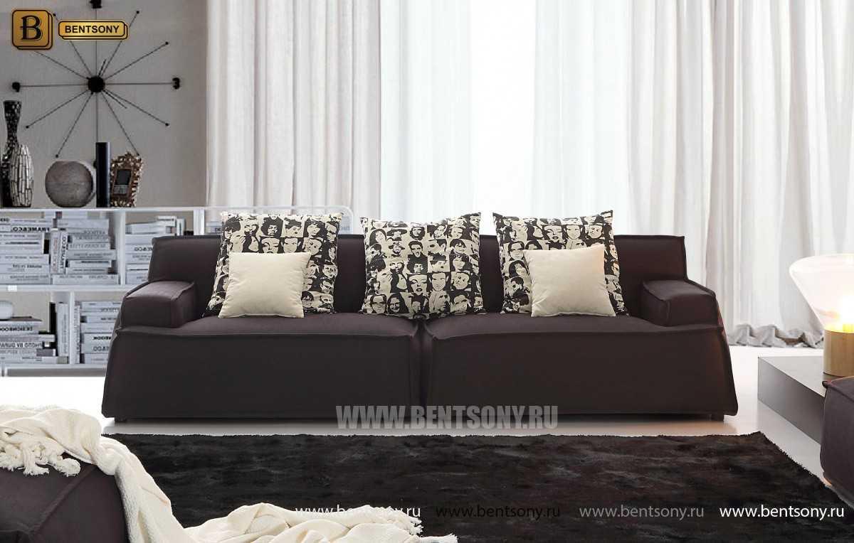 прямой черный диван Галардо фото