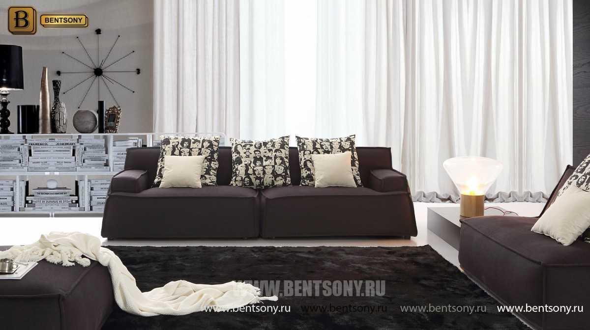стильный черный диван Галардо в интерьере